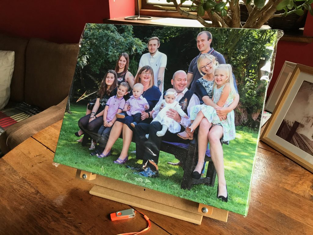 Canvas wrap, image, family photo,