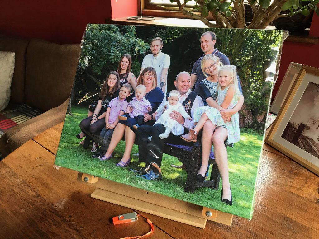 Canvas wrap, image, family photo,