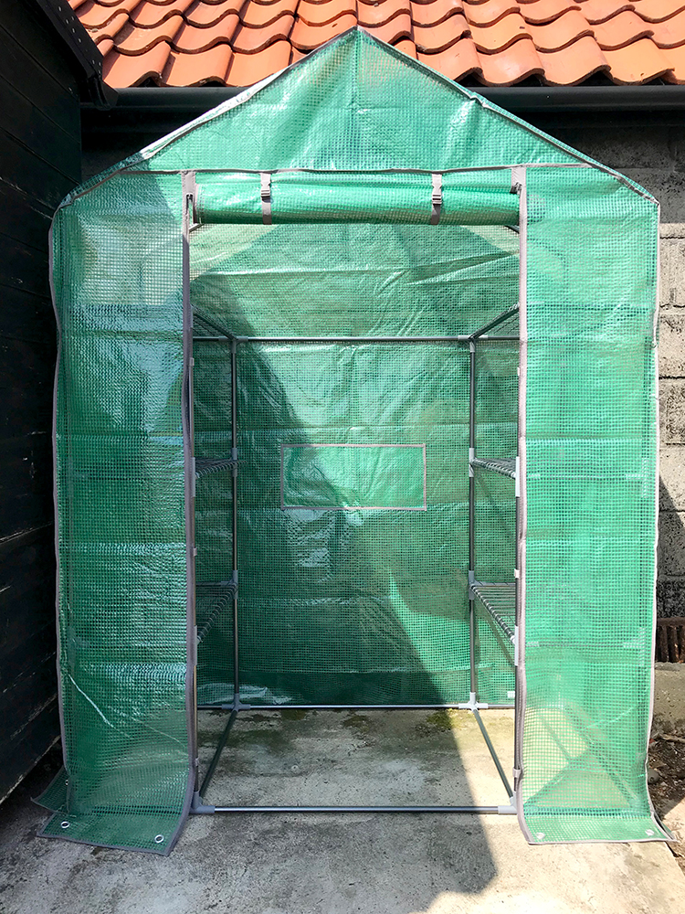 greenhouse, assembled, growing, grow your own, vegetables, plants, fruit